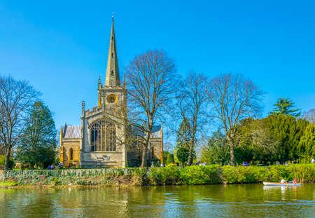 Holy Trinity Church in Stratford upon Avon, England Standard-Bild
