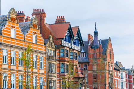 View of historical houses in the old town of Nottingham, England Stock Photo