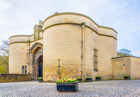 the Nottingham castle, England  Editorial