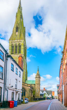 guild hall and cathedral in leicester, England