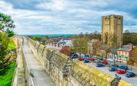 Rampart of the Lincoln castle, England
