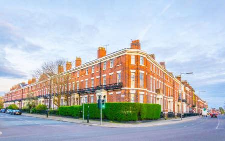 Brick houses in Liverpool, England Stock Photo