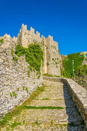 Castello di Venere in Erice, Sicily, Italy Banque d'images