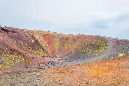 Crateri Silvestri situated on mount Etna in Sicily, Italy