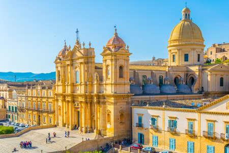 Basilica Minore di San Nicol� in Noto, Sicily, Italy 免版税图像 - 102366069