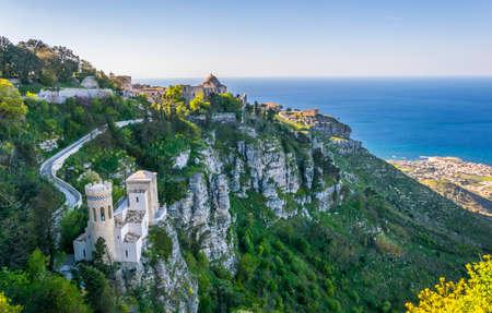 View of Torretta Pepoli in Erice, Sicily, Italy