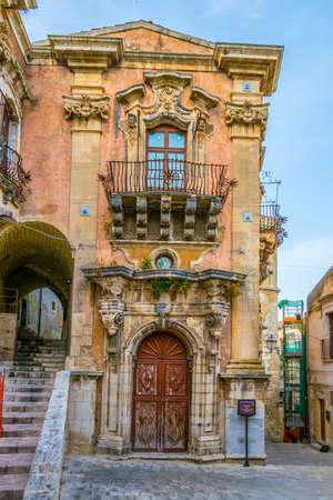Palazzo della cancelleria in Ragusa, Sicily, Italy Stock fotó