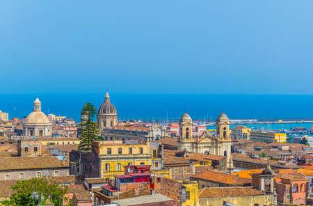 Vista aerea di Catania, Sicilia, Italia
