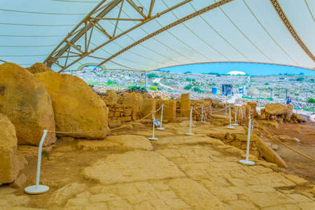 Mnajdra neolithic temple on Malta