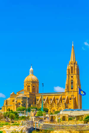 Ghajnsielem parish church in Mgarr, Gozo, Malta