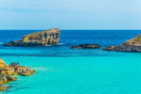turquoise water on Comino island, Malta