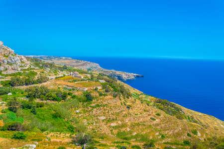 Ragged coast of Malta