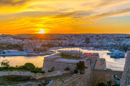 Sunset over Sliema, Malta