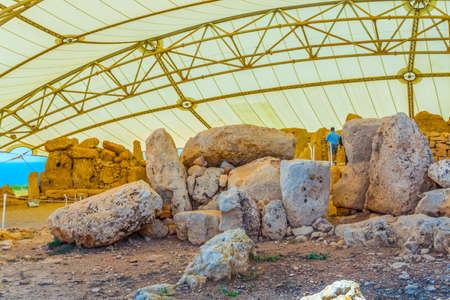 Mnajdra neolithic temple on Malta