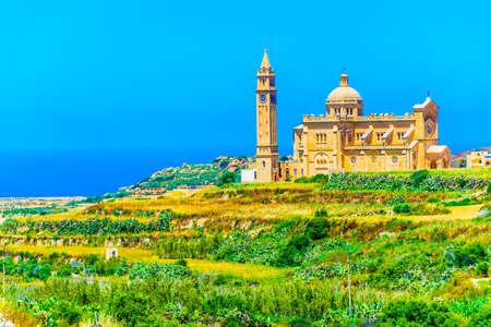 Ta Pinu basilica of Gharb on Gozo island, Malta, Europe Stock Photo