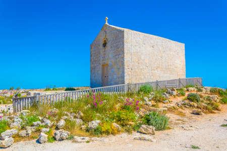 Chapel above dingli cliffs on Malta