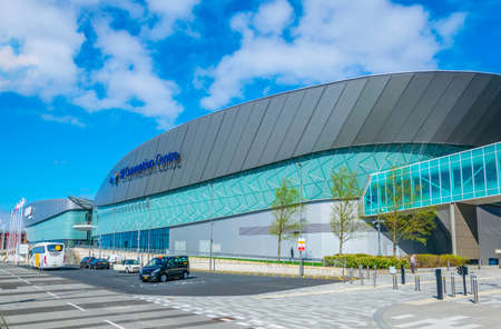 LIVERPOOL, UNITED KINGDOM, APRIL 7, 2017: View of the ECHO convention center in Liverpool, England