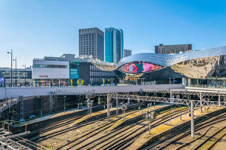 BIRMINGHAM, UNITED KINGDOM, APRIL 9, 2017: Birmingham new street train station in Birmingham, England Editorial