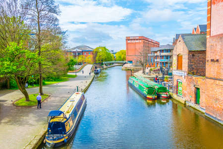 NOTTINGHAM, UNITED KINGDOM, APRIL 11, 2017: View of a channel in Nottingham, England