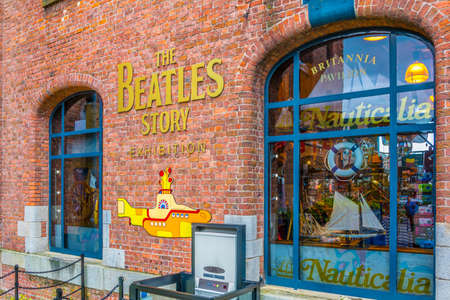 LIVERPOOL, UNITED KINGDOM, APRIL 6, 2017: Beatles story museum in Liverpool, England