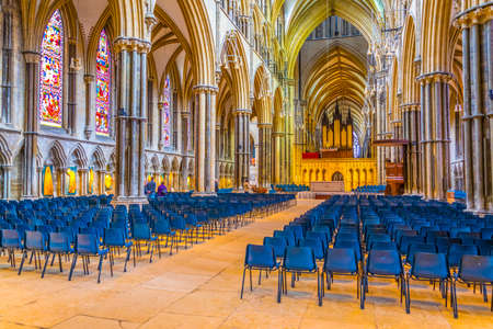 LINCOLN, UNITED KINGDOM, APRIL 10, 2017: Interior of the Lincoln cathedral, England