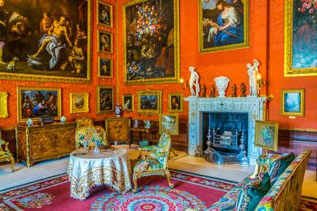 STAMFORD, UNITED KINGDOM, APRIL 9, 2017: Interior of the Burghley house near Stamford, England Editöryel