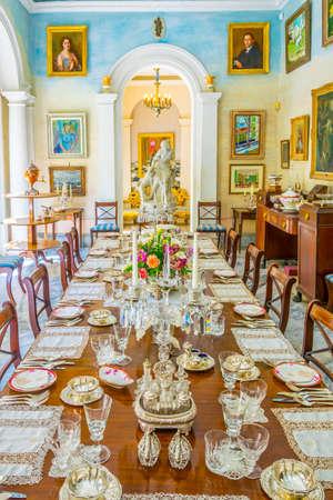 VALLETTA, MALTA, MAY 3, 2017: Dinning room in the Casa Rocca Piccola in Valletta, Malta Editorial