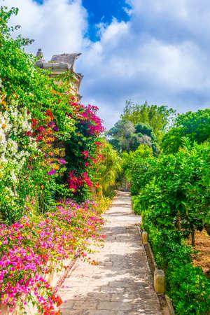 Gardens of Palazzo Parisio in Naxxar, Malta