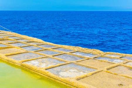 Salt pans near Marsalforn, Gozo, Malta