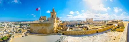 View of the Il-Kastell citadel in Victoria, Gozo, Malta Stok Fotoğraf