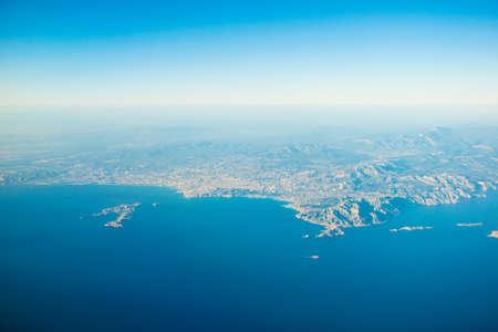 Luftaufnahme von Marseille, Frankreich Standard-Bild