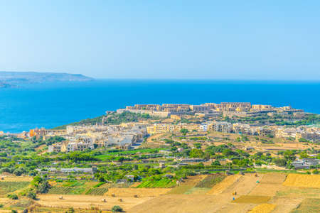 Aerial view of Mgarr on Gozo, Malta