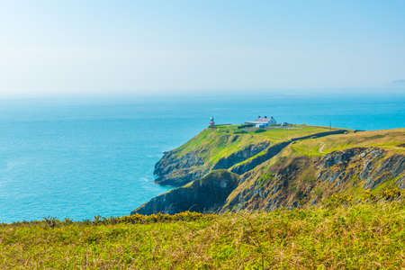Ragged coastline of Howth peninsula near Dublin, Ireland