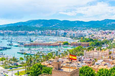 Vue aérienne du port de Palma de Majorque, Espagne
