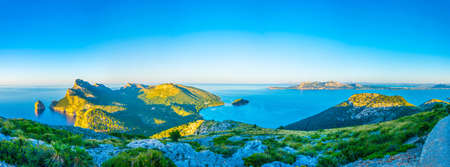 Rocky landscape of Cap Formentor, Mallorca, Spain Banque d'images