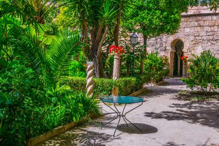 A small garden of the Arab baths at Palma de Mallorca, Spain Reklamní fotografie
