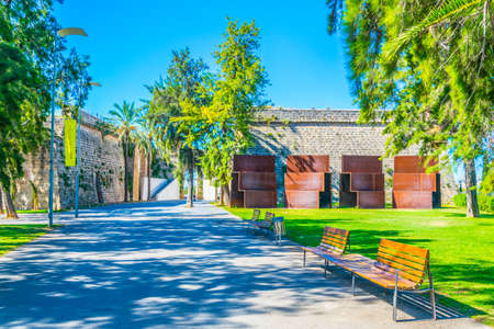 An old fortress hosting Es Baluard art museum in Palma de Mallorca, Spain