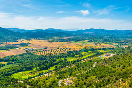 Aerial view of mainland of Mallorca at Canyamel, Spain
