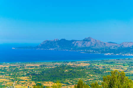 Victoria peninsula separating alcudia and pollenca bays at Mallorca, Spain Stock Photo