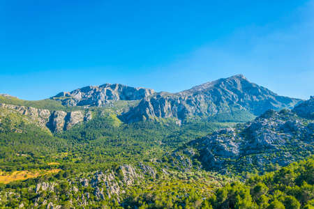 Serra Tramuntana mountain range at Mallorca, Spain