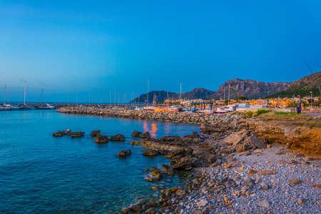 Sunset view of Colonia de sant pere, Mallorca, Spain Imagens - 104599706