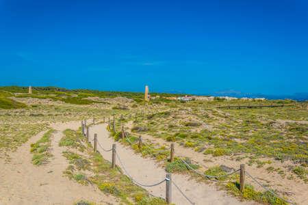 Sand dunes at Sa Canova playa virgen, Mallorca, Spain