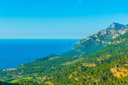 Ragged coast of Mallorca near port de Valldemossa, Spain
