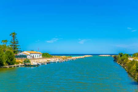 Canal Siurana aux côtés du parc national de l'Albufera à Majorque, Espagne