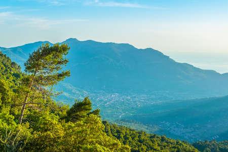 Serra Tramuntana mountain range at Mallorca, Spain Stock Photo