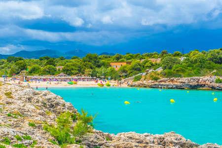 Cala Marcal beach at Mallorca, Spain Foto de archivo - 105109602