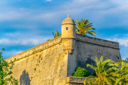 An old fortress hosting Es Baluard art museum in Palma de Mallorca, Spain