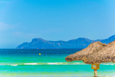 Alcudia beach between Port d'Alcudia and Can Picafort, Spain 写真素材
