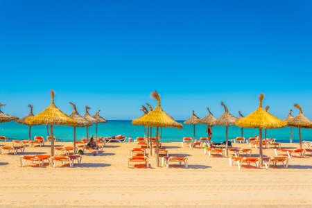 Playa de Palma beach at Palma de Mallorca, Spain Stock Photo
