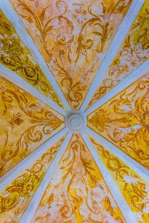 VALLDEMOSSA, SPAIN, MAY 26, 2017: Interior of Real Cartuja de Valldemossa, Mallorca, Spain